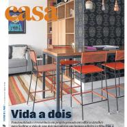 Marina Linhares na matéria de capa do Caderno Casa